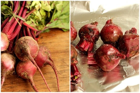 fresh beet collage