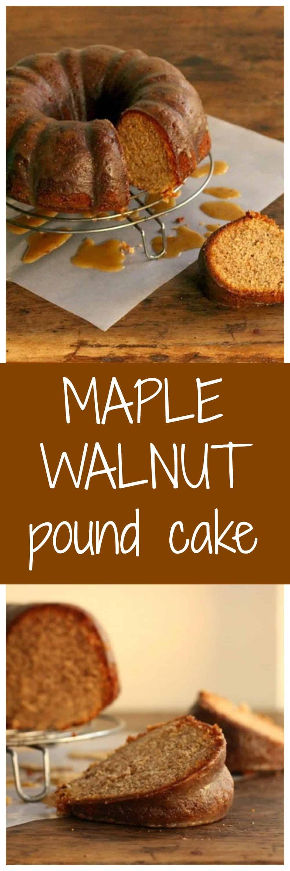 Maple Walnut Pound Cake - Vintage Kitchen