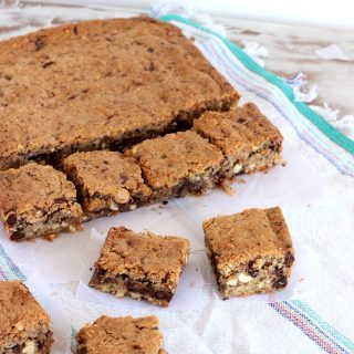 Salted Peanut Dark Chocolate Blondies