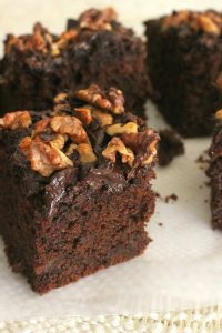 chocolate chip date squares on white board
