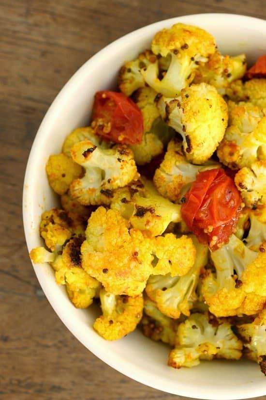 Turmeric Ginger Cauliflower