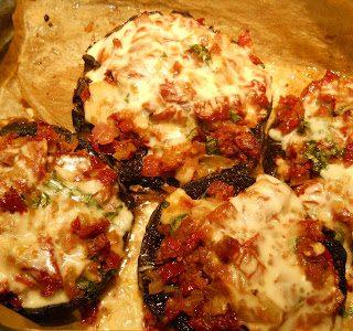 Portobellos with Sun Dried Tomatoes and Taleggio