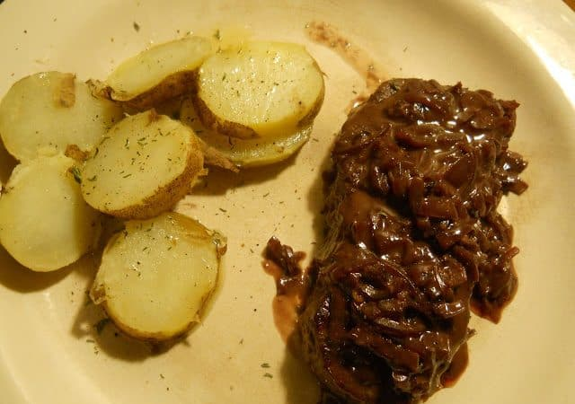 Sirloin Steak with Shallot Wine Horseradish Sauce