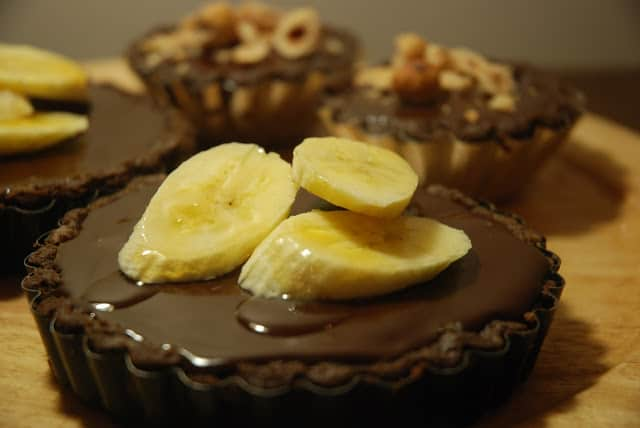 Double Chocolate and Banana Tart