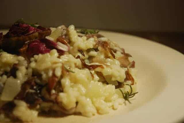 Roasted Radicchio and Provolone Risotto