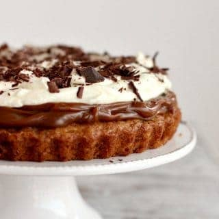 Banana Muffin Cake with Dulce de Leche and Whipped Cream