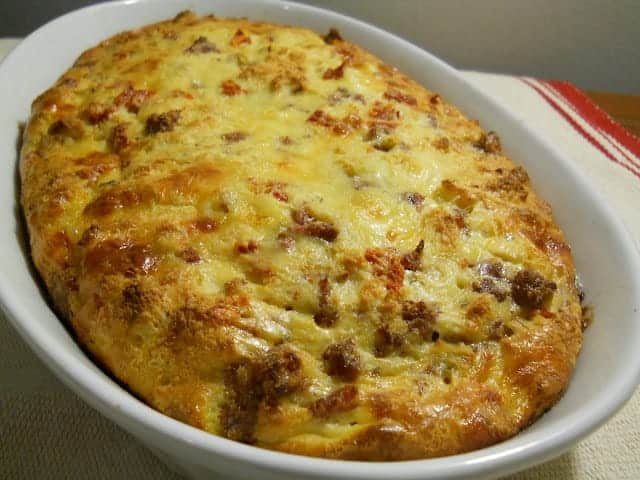 Sausage and Sun Dried Tomato Strata