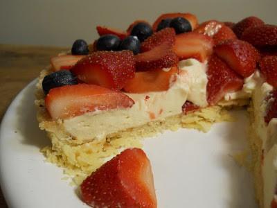 White Chocolate Berry Tart #SundaySupper