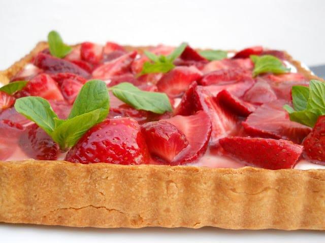 Strawberry Tart + White Sangria