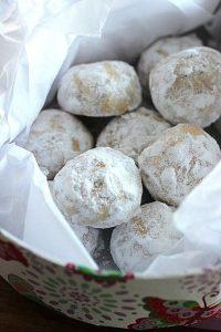 almond butter ball cookies