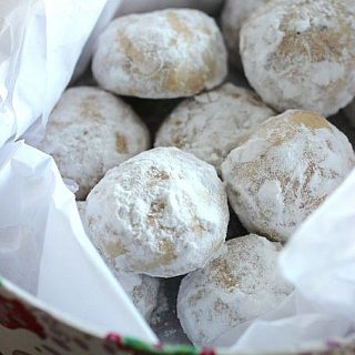 almond butter ball cookies