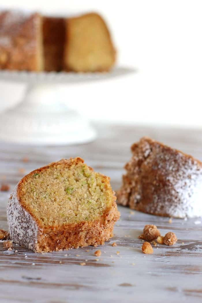 Zucchini Raisin Bundt Cake with Cinnamon Streusel