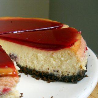 Raspberry Cheesecake with Chocolate Crumb Crust