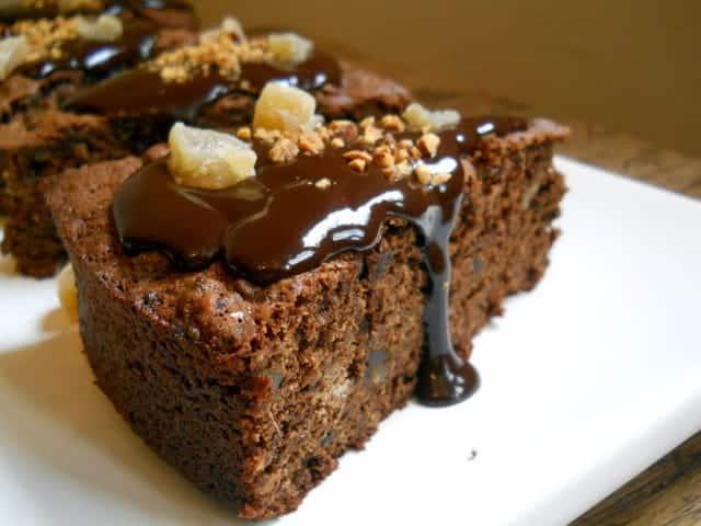 Ginger Chocolate Prune Cake