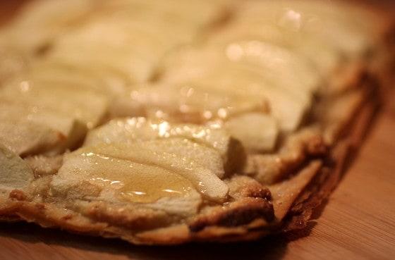 Crispy Crackly Apple Almond Tart