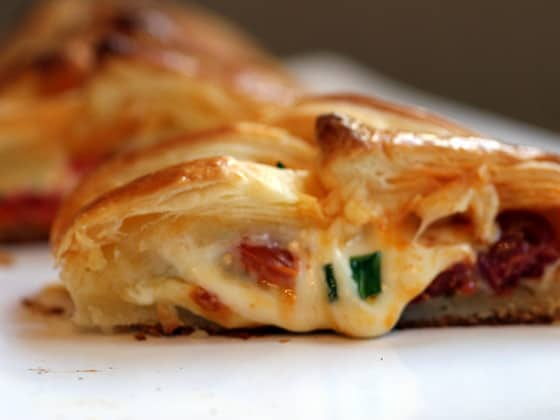 Chorizo and Mozzarella Danish Braid