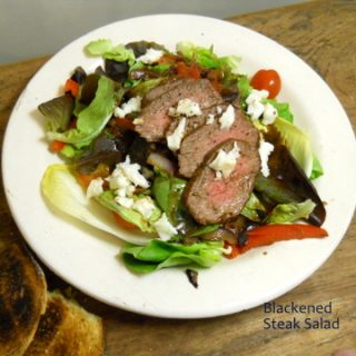 Blackened Steak Salad – a guest post at Cookistry