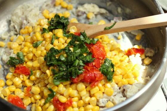 Corn Basil Handpies