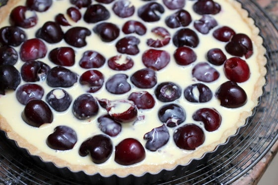 Bill Granger's Fresh Cherry Tart before baking