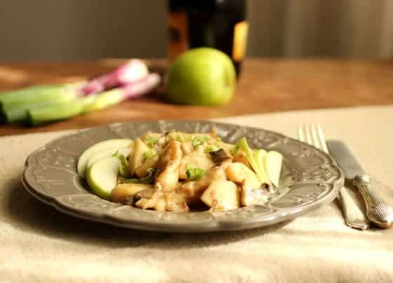 Chicken, Apples and Cream à la Normande