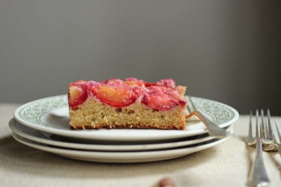 Plum Hazelnut Yogurt Cake - gluten free