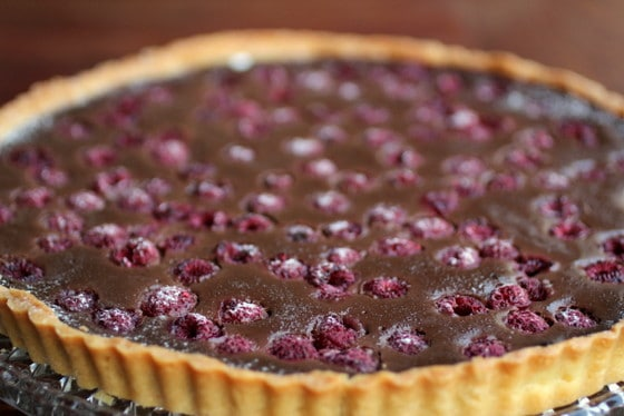 Whole Chocolate Raspberry Tart