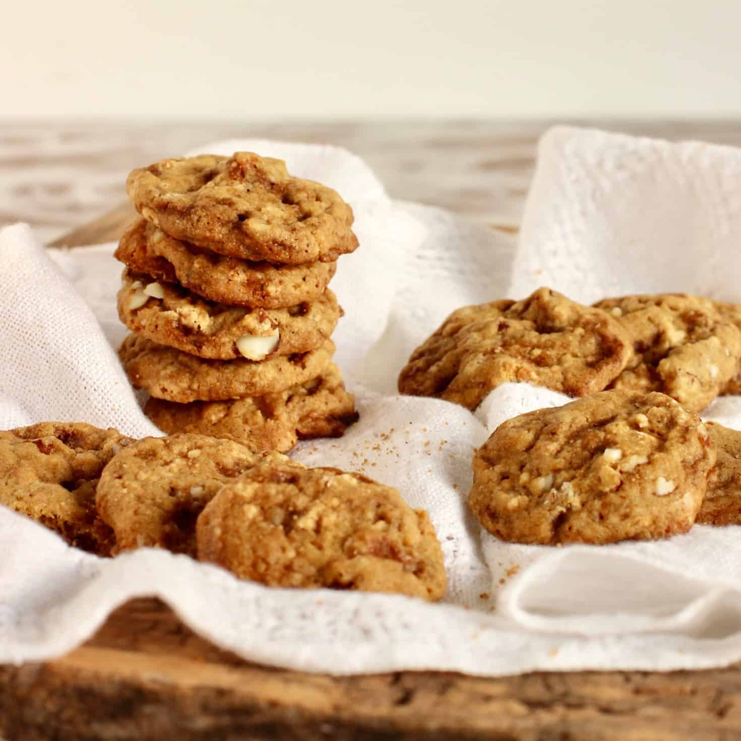 White chocolate mint almond cookies