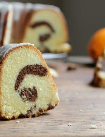 ORANGE CHOCOLATE MARBLE POUND CAKE