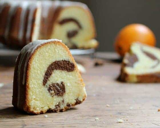 Orange Chocolate Marble Bundt Cake #BundtaMonth