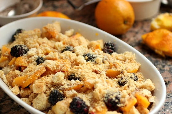 Peach Blackberry Brown Betty