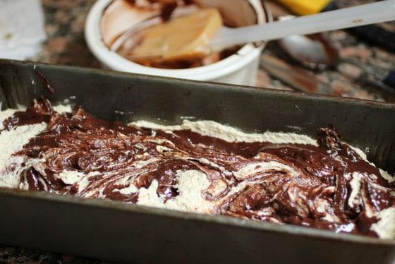 Chocolate Swirl Walnut Pound Cake
