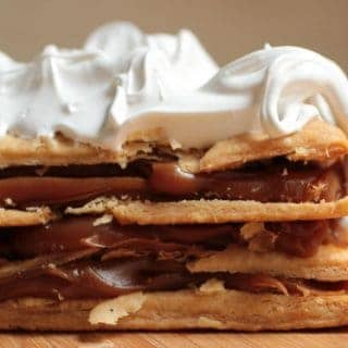 Dulce de Leche Mille Feuille – with quick puff pastry