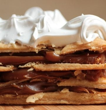 Dulce de Leche Mille Feuille - with quick puff pastry