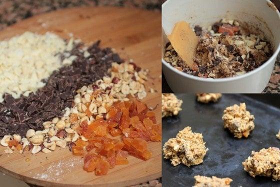 Mocha Chocolate Apricot Cookies
