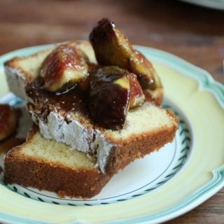Brown Butter Pound Cake with Figs – a guest post at Go Bake Yourself