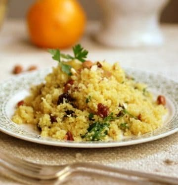 Orange, Raisin and Almond Couscous