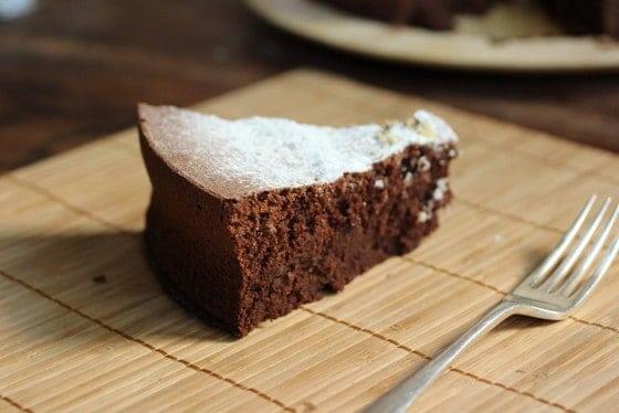 Flourless Chocolate Bean Cake    #SundaySupper