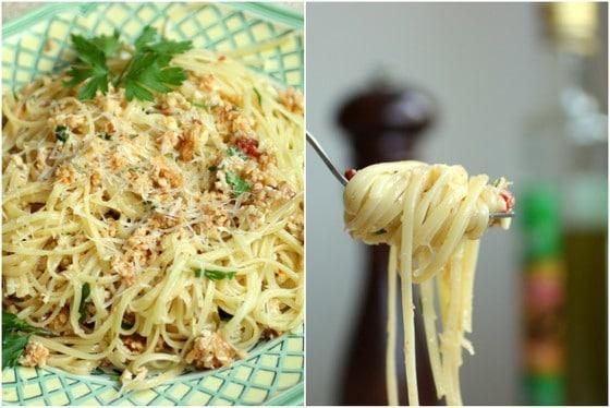 Linguini with Cauliflower Pesto