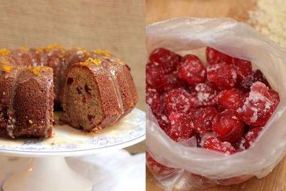 Spicy Cherry Yogurt Bundt Cake