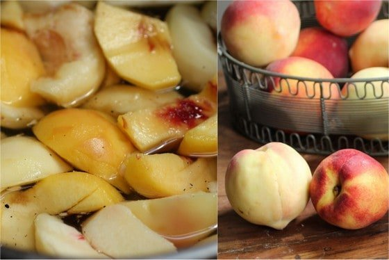Peaches in Vanilla Bean Syrup