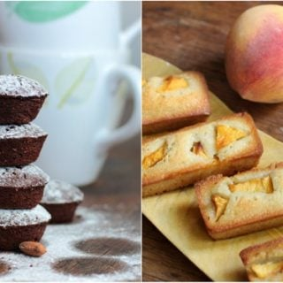 Financiers two ways – with fresh fruit and chocolate