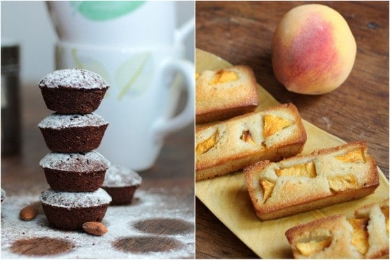Financiers two ways - with fresh fruit and chocolate