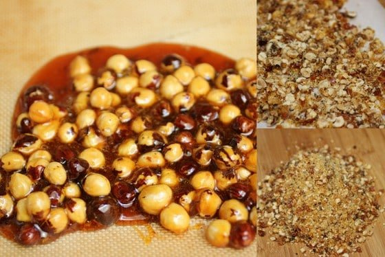 Cooling and chopping praline