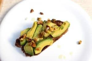 Avocado and pistachio toast