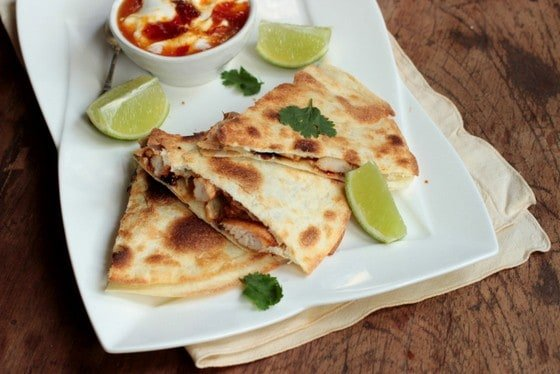 Red Chile Jam + Tequila Chicken Quesadilla