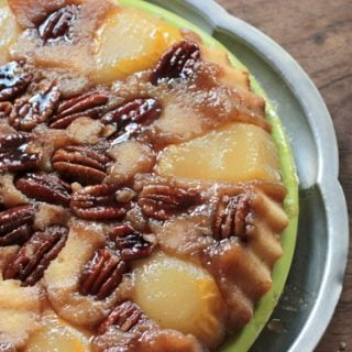 pear pecan upside down cake