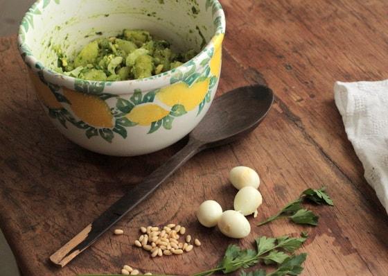 Royal Potato Pesto Egg Salad