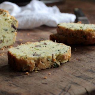 Cheddar Scallion Pecan Quick Bread