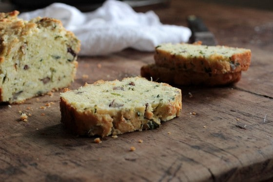 Cheddar Scallion Pecan Quick Bread