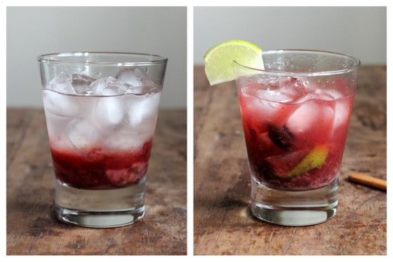 Steps for making Cherry Caipiroska